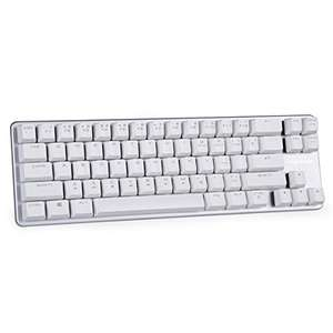 Magicforce White/Silver Mini Mechanical Keyboard - Outemu Brown Switches £23.99 Sold by Twain Fashion Mall and Fulfilled by Amazon