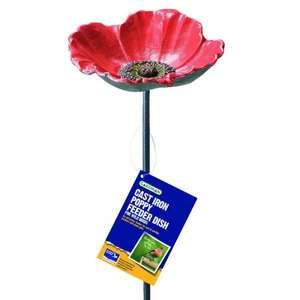 Gardman poppy bird feeder dish in-store @ home bargains (Cannock) - £2.99