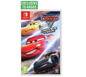 Cars 3 Nintendo Switch £24.99 @ Argos