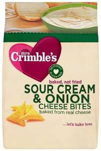 Mrs Crimble's Cheese Bites Sour Cream and Onion 60 g (Pack of 6) £1.75 Amazon ADD ON ITEM