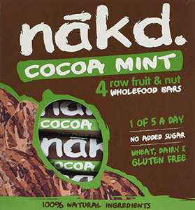 Amazon Nakd Cocoa Mint 35g Bar- Multi Pack Case of 48 Bars £15.35 delivered by Superfood Market (equivalent 32p per bar)