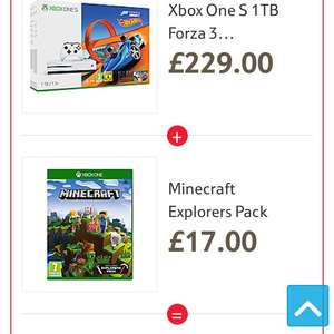 Xbox one s 1tb inc FH3, Hot wheels and Minecraft £209 @ Tesco