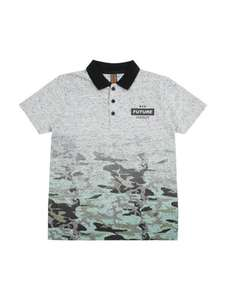 Graduated older boys camo polo shirt,from age 7+, £2.50 @ peacocks,free c+c
