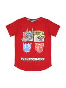 Transformers younger boys age 5 years T-shirt £3 @ peacocks (free C&C)