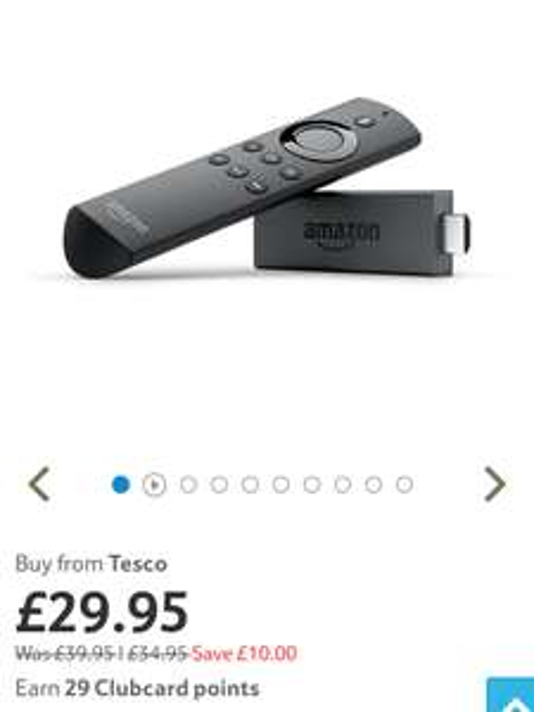 Amazon Fire TV Stick - £29.95 @ Tesco