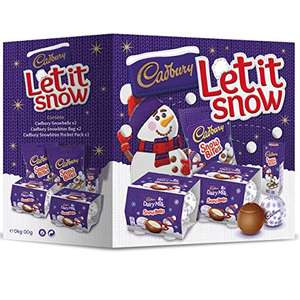 Cadbury Let It Snow Chocolate Gift Box £4prime £7.99 non prime  Sold by Cadbury Gifts Direct and Fulfilled by Amazon.