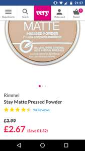 Rimmel stay matte pressed powder £2.67 @ Very