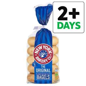 New York Bakery Bagels 5 pack - now £1 (All Varieties) was £1.50 @ Tesco