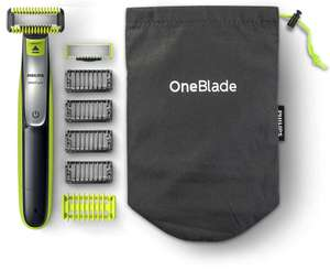 Philips OneBlade Hybrid Body and Face Trimmer with 4 x Lengths, 1 Extra Blade and Travel Pouch (QP2630/30) - was £59.99 now £39.99 @ Amazon