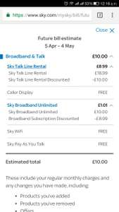Sky broadband retention deal for existing customers - £10/month 12m contract
