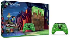 Xbox One S 1TB Minecraft Limited Edition Console Bundle + Extra Free Xbox One Minecraft Creeper Controller - Green £249.99 - Argos