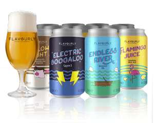 20 Craft Beers DELIVERED plus Glasses and Magazine 70% off £19.90 @ Flavourly.com