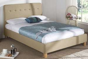 King size fabric bed frame at Mattressman for £99