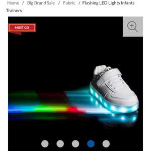 Fabric Flashing LED Lights Infants Trainers was £40 now £17 / £12.99 delivered @ Sports direct