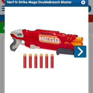 Nerf N-Strike Mega DoubleBreach Blaster was £32.99 Now £16.49 @ The entertainer