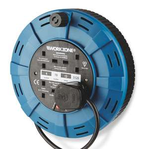 Workzone 10m 4 socket extension cable reel £8.99 @ Aldi