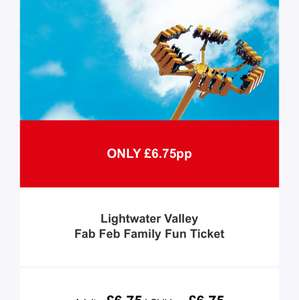 Half term light water valley £6.75 each @ Attractiontix