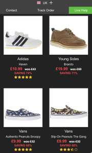 Up to 70% Sale @ Schuh ends today Mens, Women's, Kids Free delivery