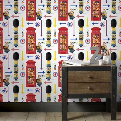 Graham & Brown wallpaper sale from £7.99. Eg, Minions London wallpaper @ debenhams