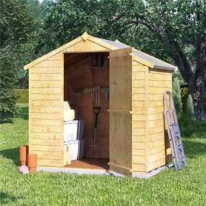 Overlap shed 4x6 Rustic Windowless ( No Felt, no floor) £114 / £119 delivered @ Garden buildings direct