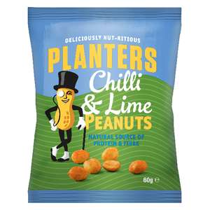 Planters Chilli & Lime Peanuts 6 60g Packs for £1 @ Heron