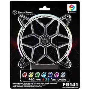 SilverStone 140mm RGB LED Fan Grill - £11.87 Prime / £15.86 Non Prime Sold by Venturabuy and Fulfilled by Amazon