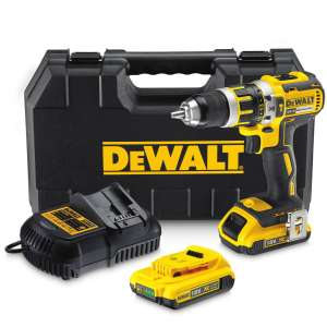 DeWalt DCD795D2 18V XR Cordless Brushless Combi Drill with 2x 2.0Ah Li-Ion Batteries £139.99 @ Screwfix