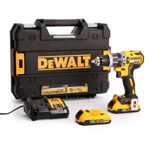 DeWalt DCD796D2 18V XR 70nm Cordless Brushless Combi Drill with 2x 2.0Ah Li-Ion Batteries @ ToolStop