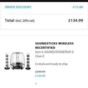 Harman Kardon Wireless SoundSticks 134.99 possible 125 with TBC