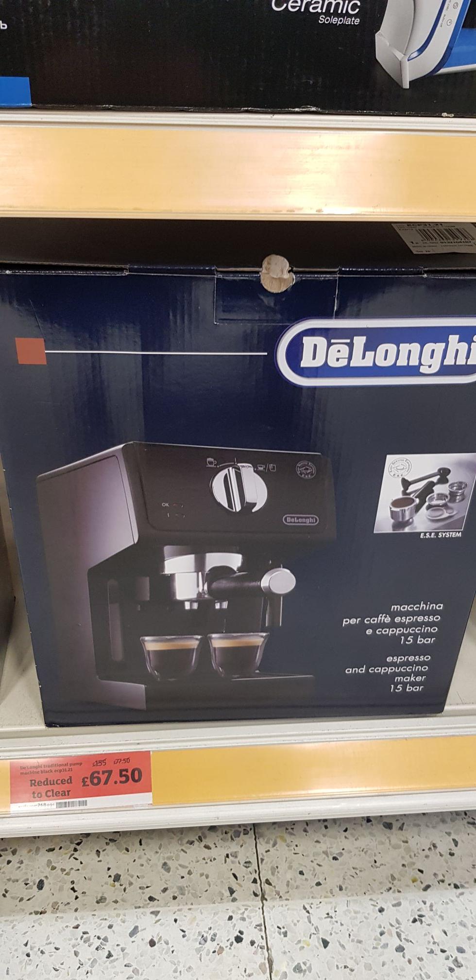 Delonghi Espresso machine ecp31. 21 £67.50 @ Sainsbury's instore