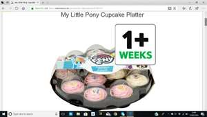 My Little Pony Cupcake Platter £6.50 - Online and Instore at Tesco