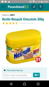 Nesquik 300g all flavours @ poundland