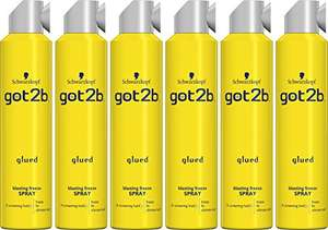 6 pack of Schwarzkopf got2b Glued Blasting Freeze Spray. (s&s £17.10 with 5%, £15.30 with 15%) £18 Prime / £22.75 Non Prime @ Amazon
