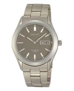 Seiko Men's Grey Titanium Quartz Movement Watch £80.10 @ H Samuel