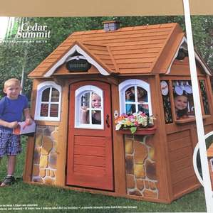 Cedar summit wooden playhouse reduced to £167.96 at Costco