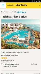 Family of 4 Easter Half Term 1 Week All Inclusive Holiday to Majorca £301.99pp @ Thomas Cook