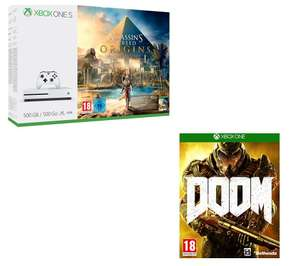 Xbox One S with Assasins Creed:Origins + DOOM - Only £209.99 @ Currys