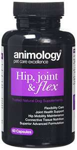 Animology Hip Joint and Flex Supplement Capsules for dogs, Pack of 60, £4.87 (Amazon add-on item)