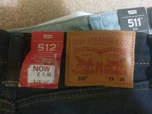 Levi's jeans £5 INSTORE at Levi's East Midlands Designer outlet