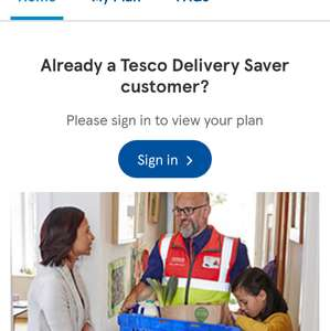 1 Month Free Trial of Tesco Delivery Saver