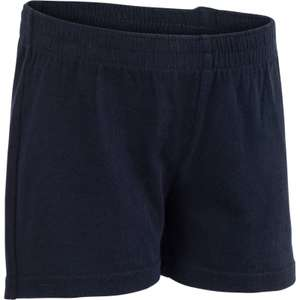 DOMYOS 100 BABY GYM SHORTS - NAVY BLUE - (available size - 12 months) - (reduced from £1.99) - 20p + free C&C @ Decathlon