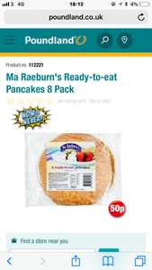 8 ready made pancakes 0.50p at poundland