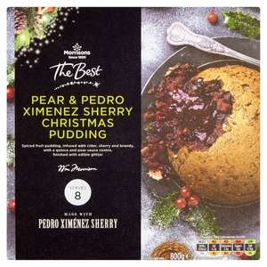 Pear & pedro Ximenez sherry Christmas pudding 800g £1 @ Morrison's online