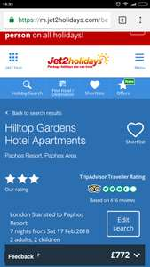 From London: February Half Term (for some) 17-24 February to Cyprus just £193pp @ Jet2 Holidays