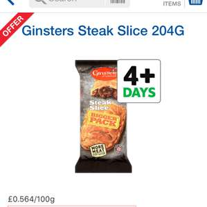 Ginsters Steak Slice - 204g - £1.15 @ Tesco (online and instore)