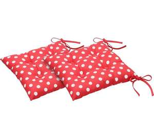 Pack of 2 chair seat pads red - white polka dot £5 @ argos