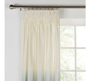 Home ombre pencil pleat curtains 117 x 137 cms white\ green £3.49 @ argos