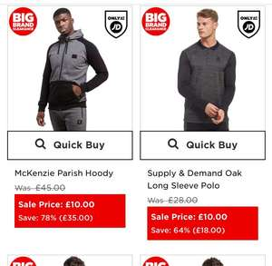 JD SPORTS - BIG BRAND CLEARANCE (Free del on orders over £60, or £3.99)