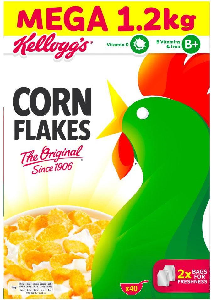 Kelloggs Cornflakes 1.2 kg - £2.50 @ Asda (instore)