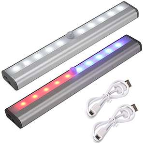 2 x USB Rechargable Sensor LED lights - Sold by Alin-supermarket / Fulfilled by Amazon - £6.99 Prime / £10.98 non-Prime